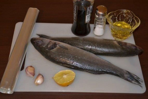 Ингредиенты для рецепта: Сибас в рукаве