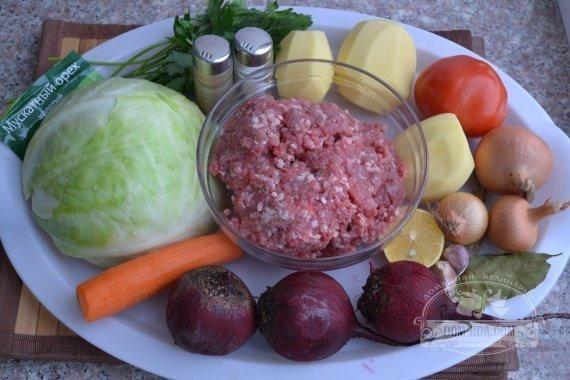 Ингредиенты для рецепта: Борщ с фрикадельками
