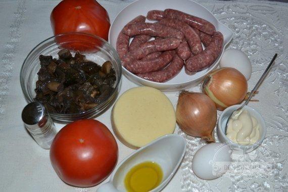 Ингредиенты для рецепта: «Пицца» домашняя