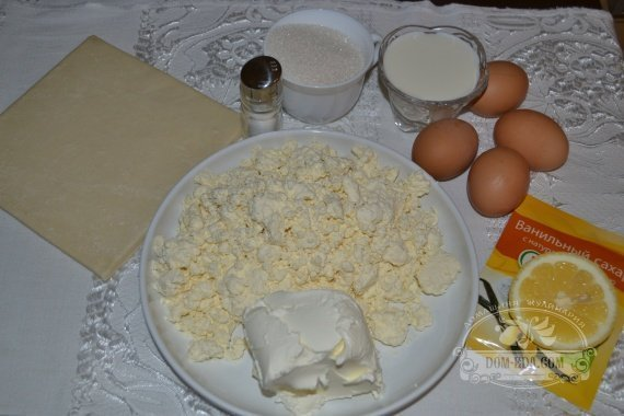 Ингредиенты к рецепту: Творожный Чизкейк