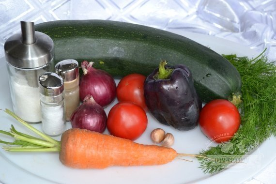 Ингредиенты к рецепту: Рагу из кабачков