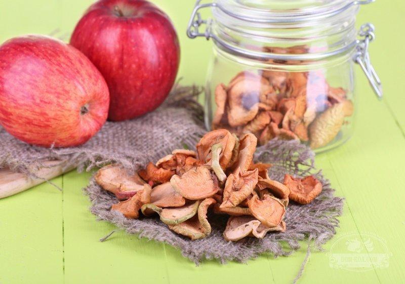 В чём хранить сушёные яблоки в домашних условиях в