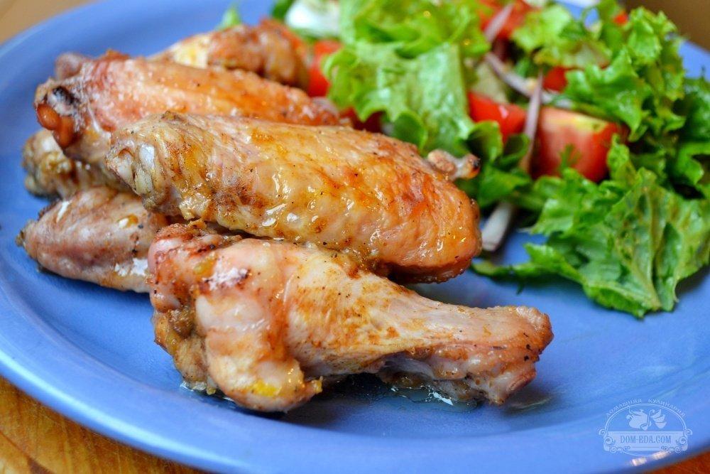 крылышки в соусе барбекю в духовке рецепт