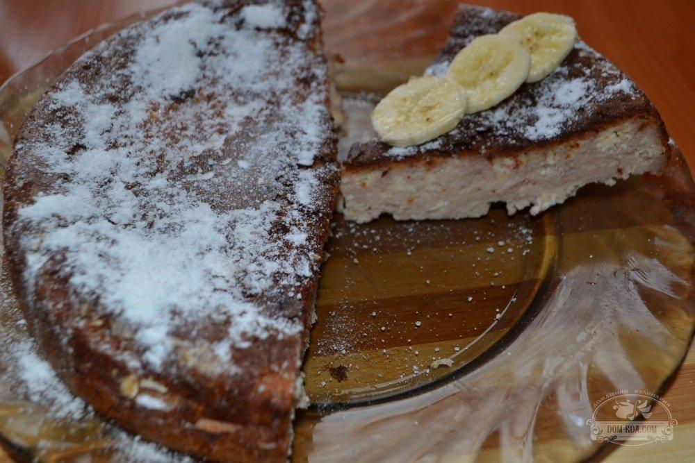 банановая творожная запеканка в мультиварке рецепт с фото