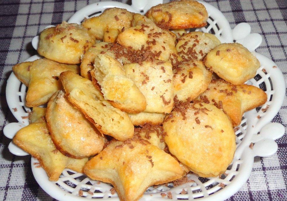 Печенье на сметане с творогом рецепты простые и вкусные