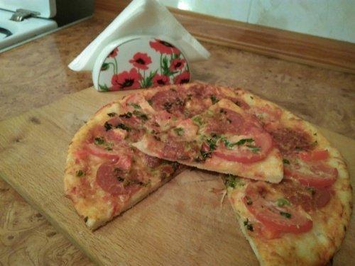 Пицца по-домашнему быстро и очень вкусно