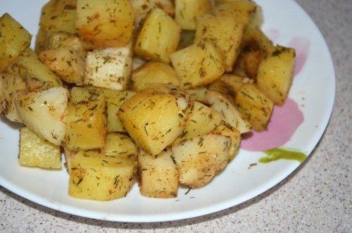 Печёная картошка за 10 минут