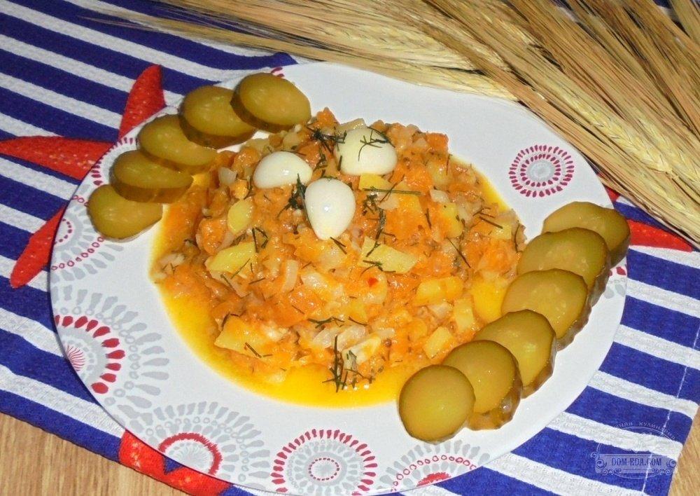 овощное рагу из тыквы и картошки