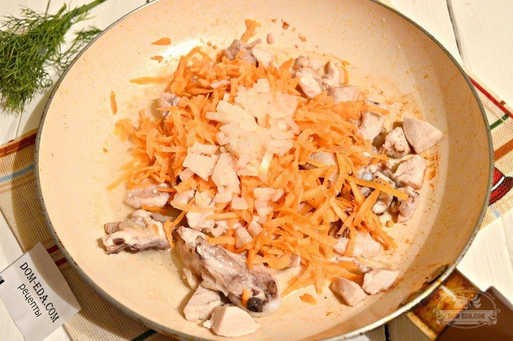 Замороженные овощи с курицей на сковороде рецепт пошагово