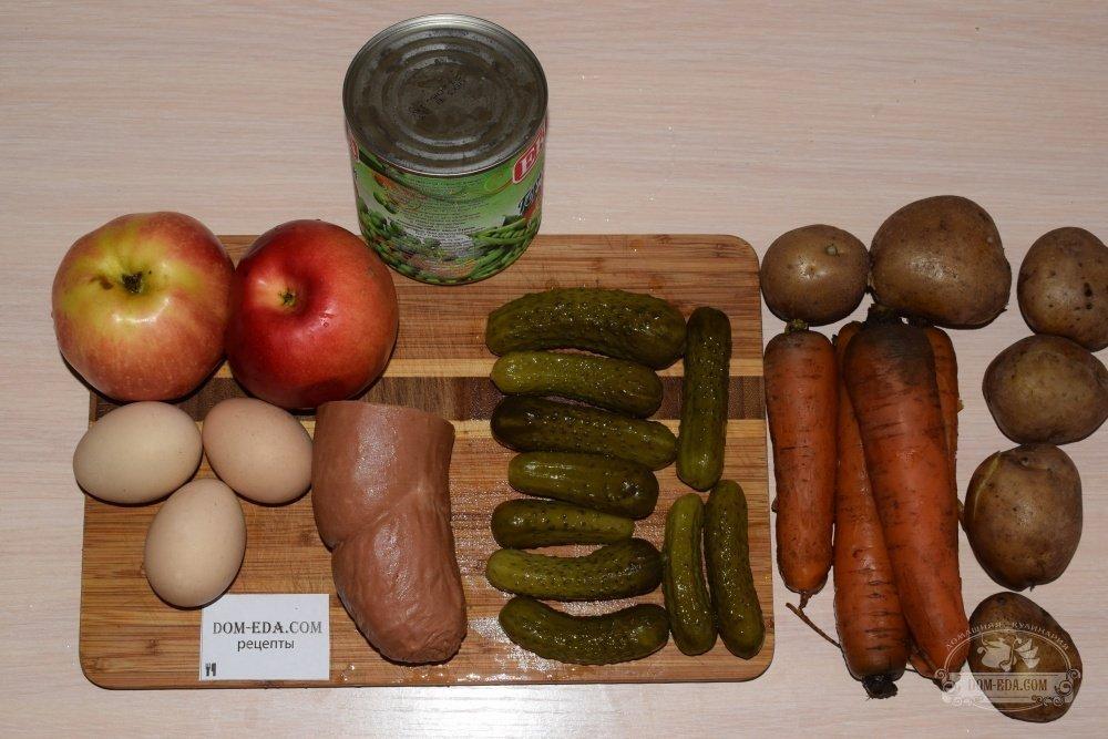 рецепты салата оливье без фото