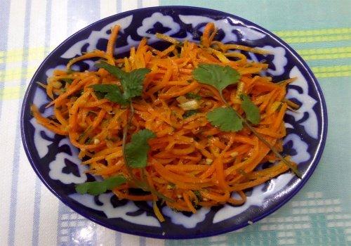 Острый салат из моркови по-корейски