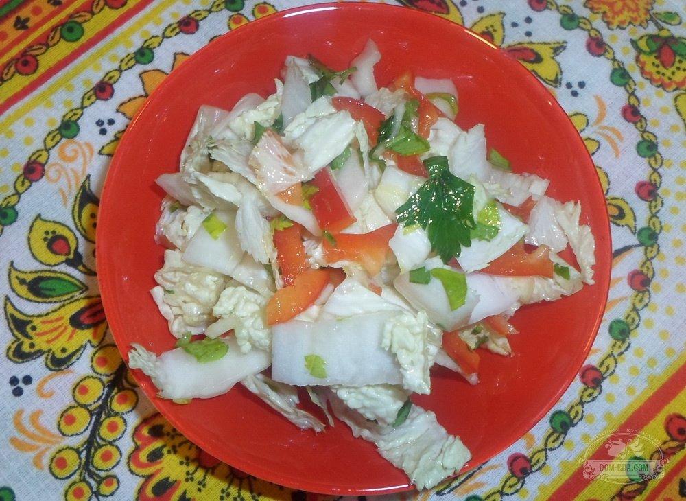 Салат острый с капусты