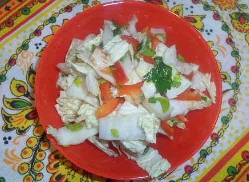 Острый салат из китайской капусты