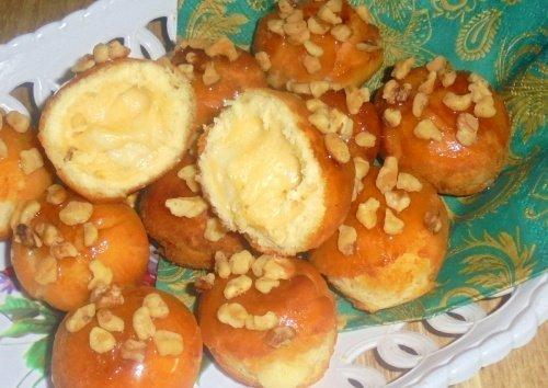 Пончики «Лакомка» с пудингом