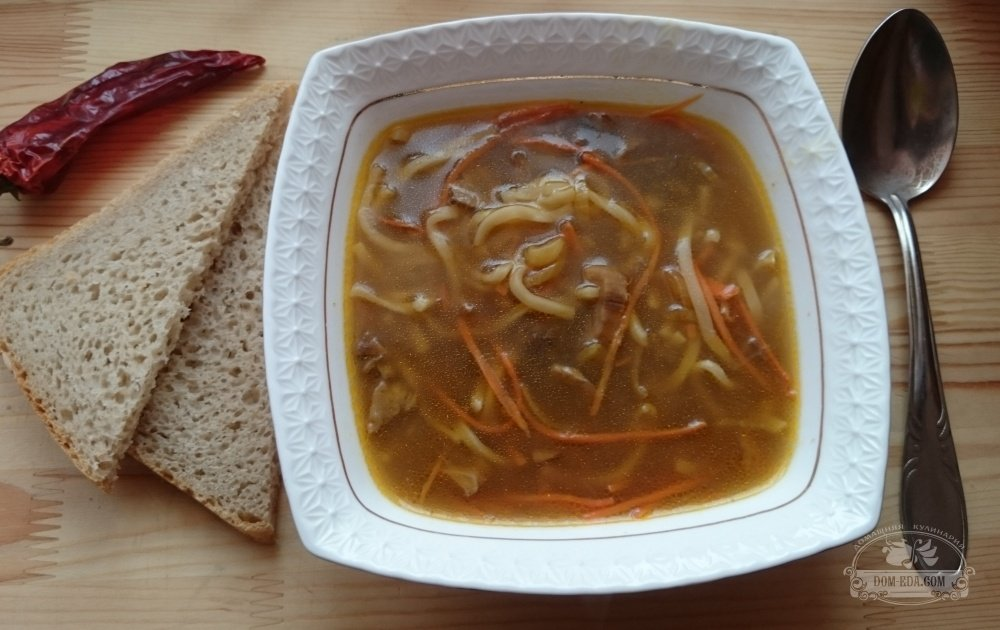 крем суп с белыми сушеными грибами рецепт с фото