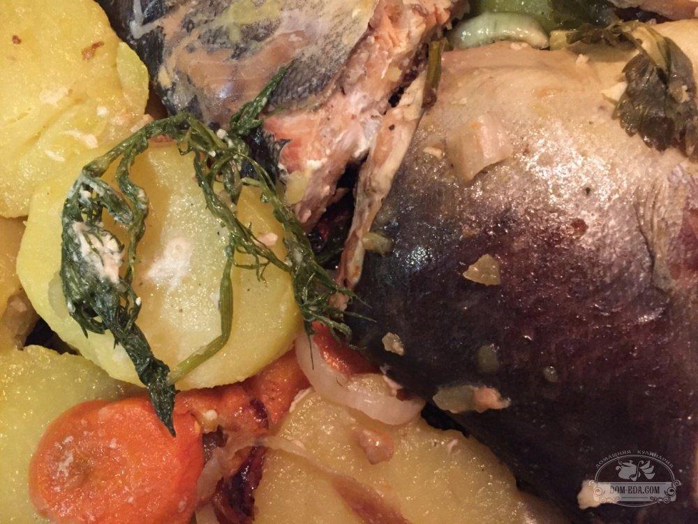 Горбуша запечённая с овощами в фольге в духовке рецепт с пошагово