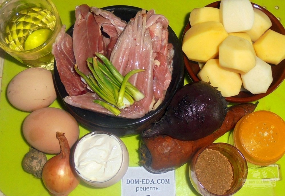 Рецепт салата с уткой картинки