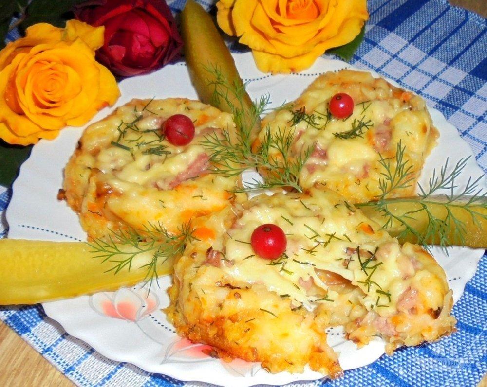 запеканка картофельная с колбасой в духовке рецепт