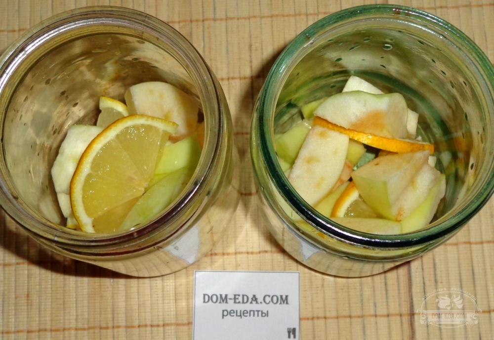 как приготовить яблочный компот с лимоном