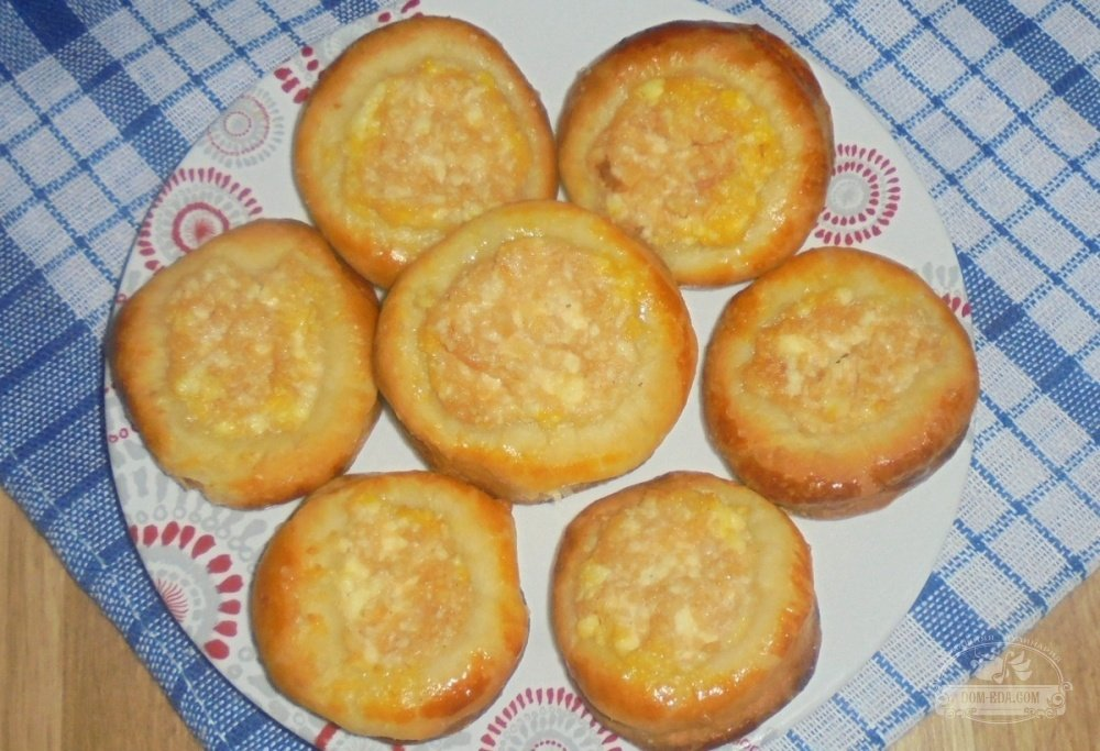 ватрушка с яблоками рецепт