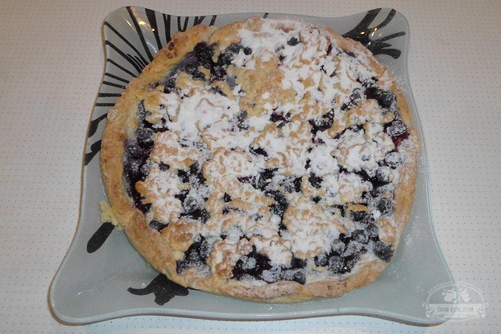 Тертый пирог с черной смородиной рецепт