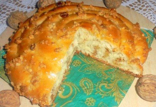 Пирог «Спираль» с ореховой начинкой