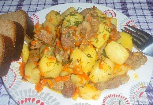 Жаркое из свинины и тыквы