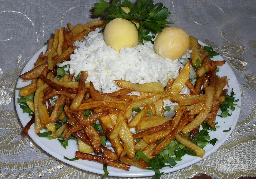 Гнездо кукушки салат рецепт с фото