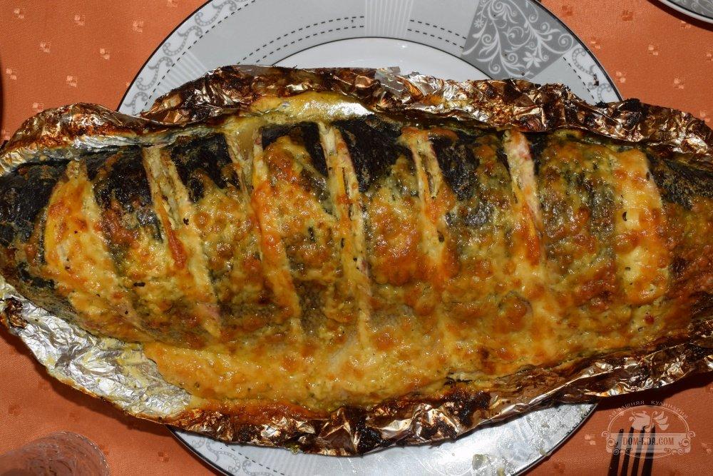 красная рыба в фольге в духовке рецепт с фото пошагово