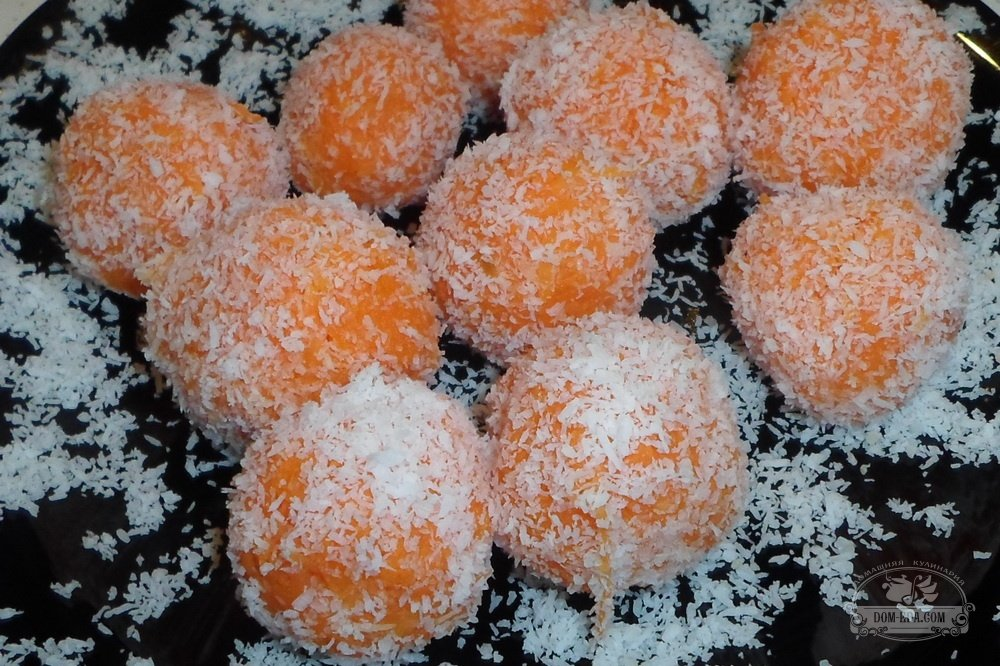 Конфеты из моркови рецепт