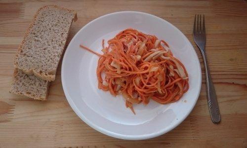 Кальмары с корейской морковкой