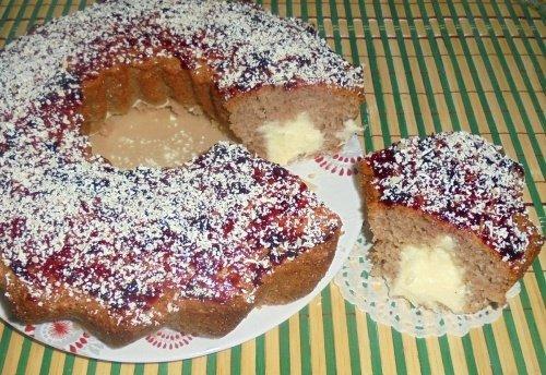 Кекс с заварным кремом и белым шоколадом