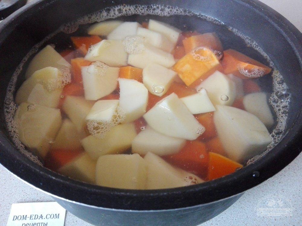 крем суп из свинины