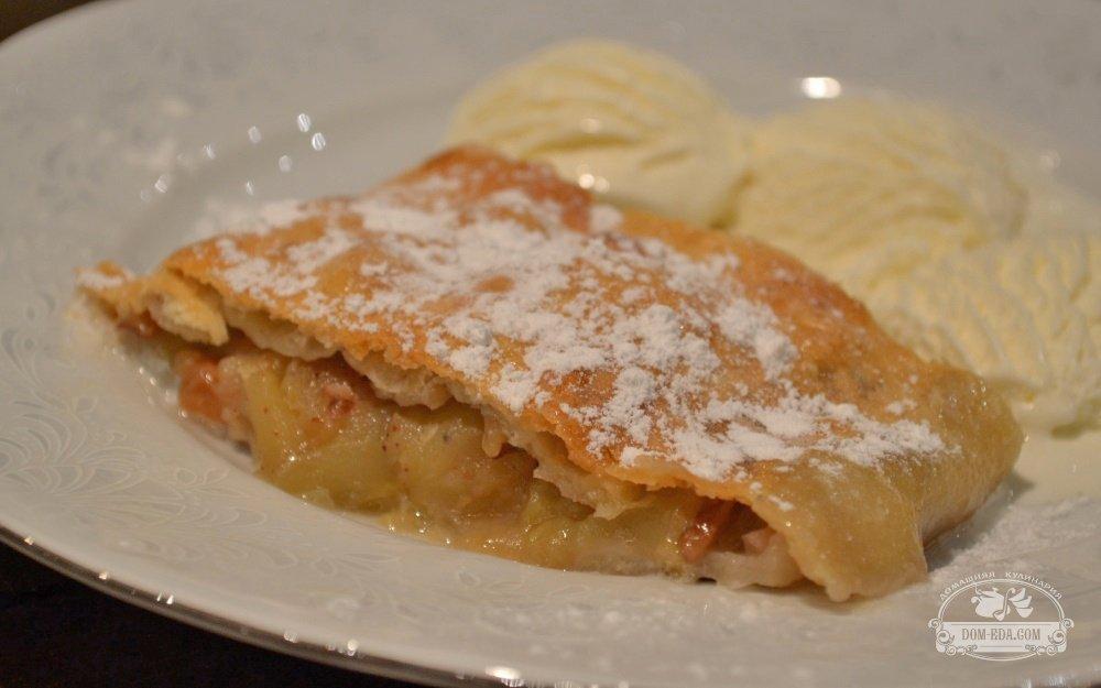 Штрудель с яблоками рецепт пошагово самый простой
