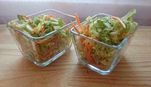 Салат из пекинской капусты с соевой заправкой