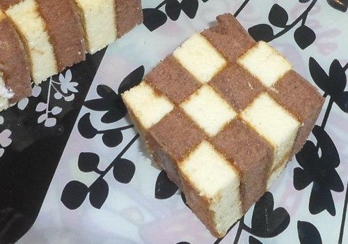 Кекс шахматный