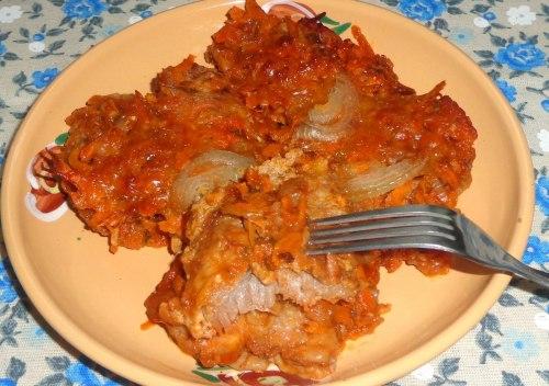 Отбивные запеченные в томатном соусе