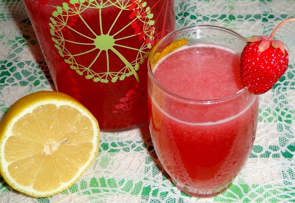Клубничный домашний лимонад
