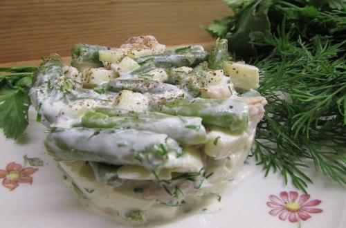 """Салат с зеленой фасолью """"Свежесть"""""""