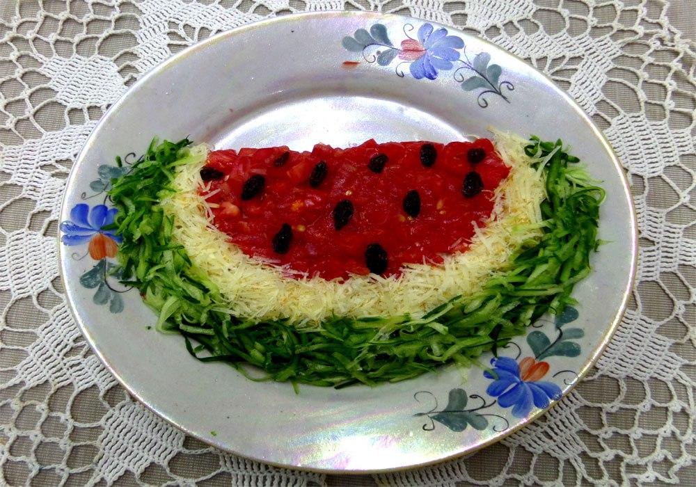 Салаты для праздничного стола арбуз