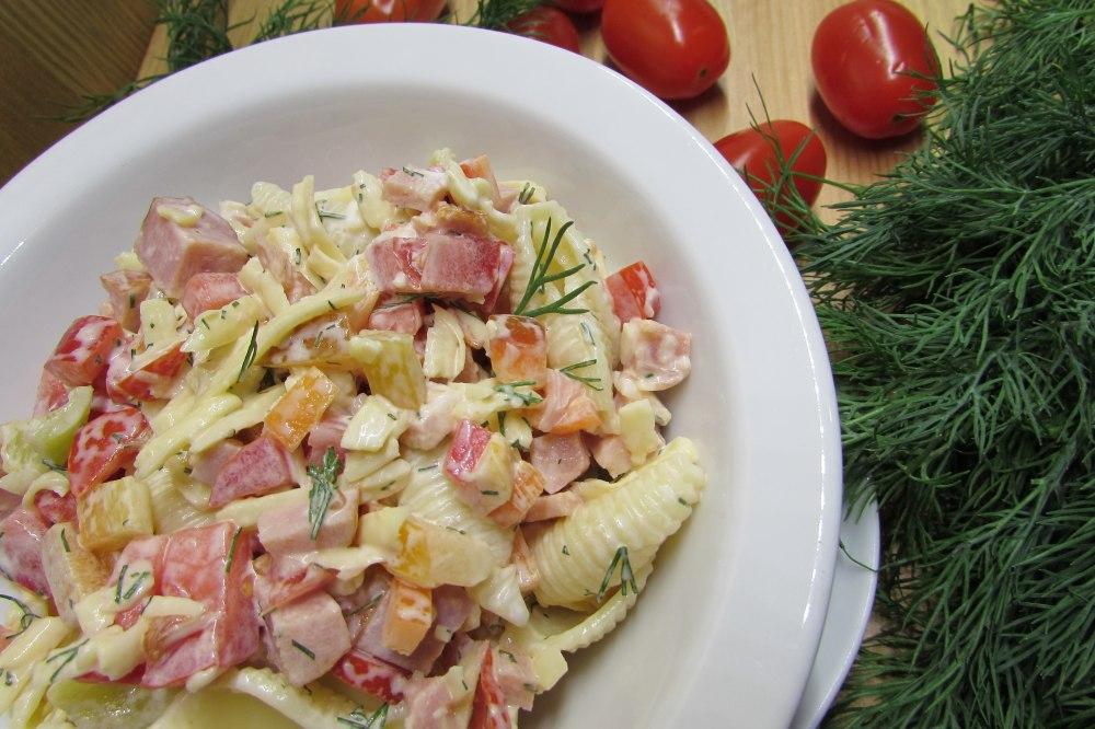 салат итальянский с макаронами и ветчиной рецепт с фото