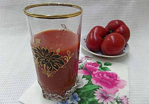 Томатный сок через соковыжималку на зиму