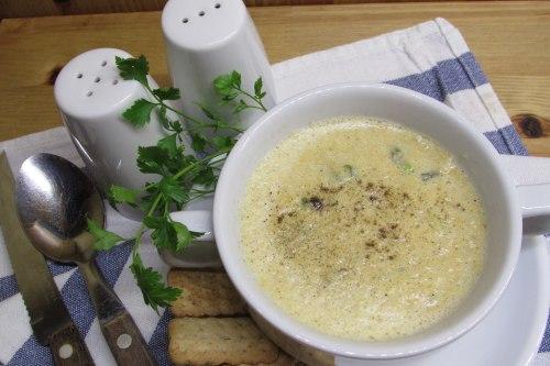 Луково-грибной суп-пюре