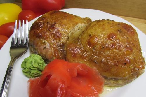 Куриные бедра, запеченные в соусе с васаби