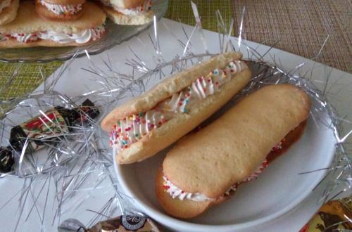 Бисквитное пирожное с зефирным кремом